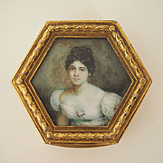Victorian Box with Miniature Portrait Lid