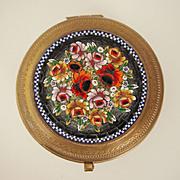 Vintage Mosaic Brass Box