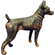 SOLD Very Small highly detailed Doberman Pincher Figurine