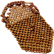 SALE **Reduced 25% ~Small Wood Bead Purse