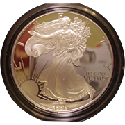 SOLD 1995-P Proof United States Silver Eagle in Original Box