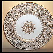 ( 6) Richard Klemm Dresden Reticulated Plates   7 3/4""