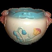 """Hull Pottery Bow Knot Jardiniere B18   5 3/4"""""""