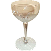 "Moser Crystal Cut Wine Stem Glass Royal Pattern 5 3/4"" Untrimmed"