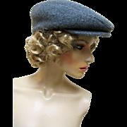 Bedford Boston Newsboy Style Gray Wool Hat/ Cap