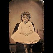 SOLD Little Orphan Annie Look Alike Tintype.