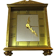 SOLD Art Deco Tiffany 8 Day Desk Clock Made In France.