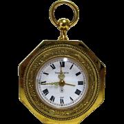 SOLD Art Deco Tiffany Swiss Angelus 8 Day Alarm Clock.