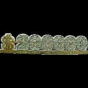 Vintage MARY KAY 14 K Yellow Gold & Diamond $200.000 Mary K Award Pin ~ Collectors~