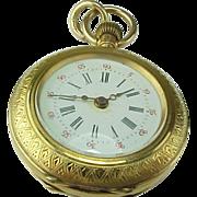 Antique Swiss Locle 14K Gold Pocket Watch /Pendant
