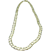 """14k Yellow Gold 20"""" Curb Link Chain"""