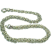 """Sterling SIlver 18"""" Length Byzantine Chain"""