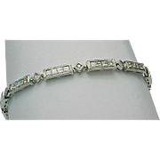 18K White Gold 1.00 Carat Diamond Tennis Bracelet