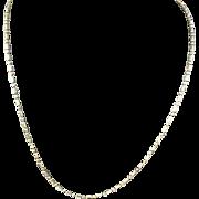 Vintage 14k Gold Beaded Chain Circa 1980