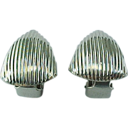 Vintage Napier Silver Tone Clip On Earrings