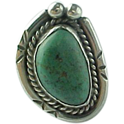 SOLD Native American Sterling Silver Carico Lake Turquoise Ring