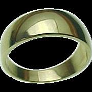 SALE 14K Yellow Gold, 8 mm Wedding Band -  Circa 1980's