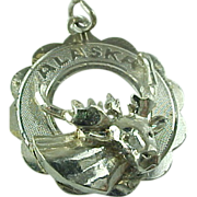 Vintage Crea Sterling Silver Alaska Moose Head Charm