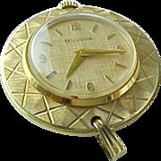 Vintage Gold Filled Woman's Bulova Pendant Watch