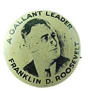 """A Gallant Leader Franklin D Roosevelt"" Collectors Pin"
