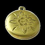 Vintage WEH Gold-filled Round Locket