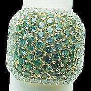 14K Yellow Gold 1.00 Carat Alexandrite & Diamond Ring