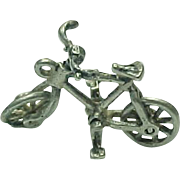 Sterling Silver Movable Bicycle Charm