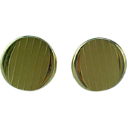 SWANK - 1950's Textured & Polished Gold Plate Cuff Links