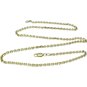 "Vintage 14k Gold Anchor Link Chain 18"""