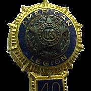 B. B. And Co Rock N.Y. American Legion 40/8 Pin