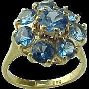 Vintage 14K Gold 2.20 Carat Aqua Marine Ring