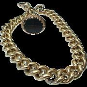 Edwardian Gold Bloodstone Fob Charm/Chain