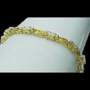 Beautiful Sterling Silver 3.60 Carat Simulated Diamond Bracelet