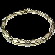 Gorgeous Handcrafted 14 Karat Yellow & White Gold 1.00 Carat Diamond Tennis Bracelet
