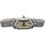 REDUCED Classic Swiss Art Deco lady's Wrist Watch Circa 1920's ~ Diamonds & Sapphires