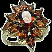 SALE STUNNING Vintage 4.00 Carat Garnet Cluster Ring