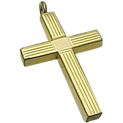 Vintage 12 K Etched Gold Filled Cross