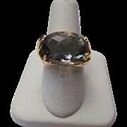 14K Yellow Gold 8.80 Carat Fluorite Ring