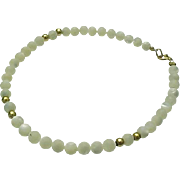 14K Yellow Gold/Mother of Pearl Bracelet