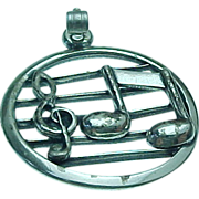 Vintage Sterling Silver, Musical Instrument Charm