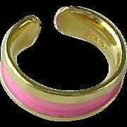 Vintage Napier Pink Toe Ring