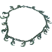 Sterling Silver Moon & Star Anklet