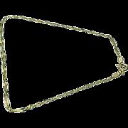 "14K Yellow Gold Singapore Bracelet / Anklet 9"" - Circa 1980's"