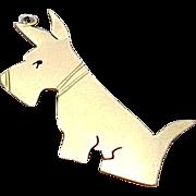 Vintage 14K Yellow Gold, Scottish Terrier Pendant