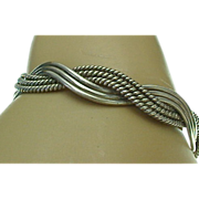 Mexico Sterling Silver Twisted Cuff