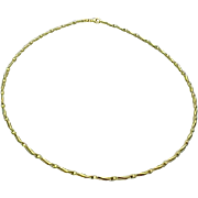 """14K Yellow Gold Twisted Flexible 18"""" Necklace 2mm"""