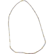 """Vintage Two Tone 14 K Gold Fancy Link 18"""" Chain"""