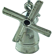 SALE Vintage Sterling Silver Wind Mill Charm