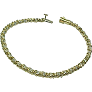 14k Yellow Gold .50 Carat Diamond Tennis Bracelet