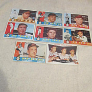 Vintage 1960 Topps Baseball Cards Baltimore Orioles Set of 8 Cards